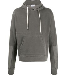 john elliott loose stitch beach hoodie - grey