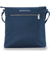 men's briggs & riley rhapsody water resistant nylon crossbody bag - blue