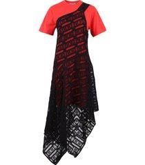 mcq alexander mcqueen layered dress