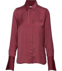 rioiw shirt overhemd met lange mouwen rood inwear