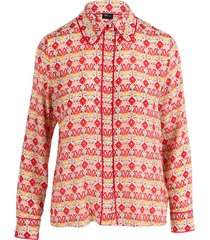 alice + olivia alice olivia willa silk print shirt