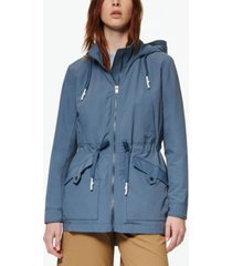 marc new york women's hooded rain parka coat
