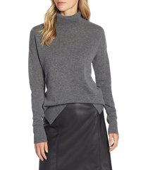 women's halogen cashmere turtleneck sweater, size medium - grey