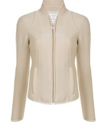 chanel pre-owned 2003 slim-fit mesh jacket - neutrals