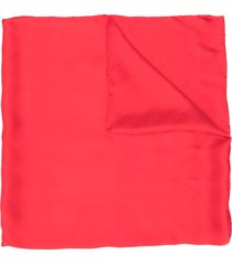 givenchy silk long-length scarf - red