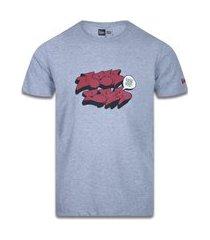 camiseta new era regular new era brasil mescla cinza