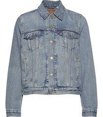 original trucker all mine jeansjack denimjack blauw levi´s women