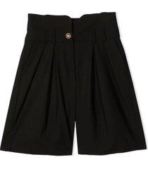 balmain wide leg shorts