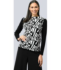 trui alba moda zwart::wit