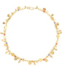 'fairy's tail' 24k gold plated silver bronze vermeil necklace