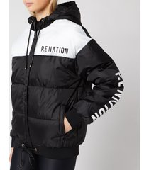 p.e nation women's lead right puffer jacket - black - l