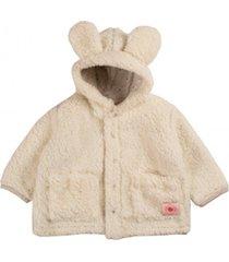 casaco pelãºcia urso florim kids branco - branco - poliã©ster - dafiti