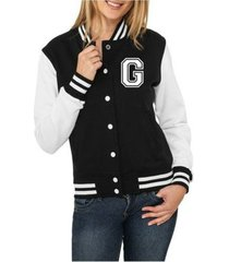 jaqueta criativa urbana college americana letra g