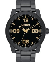 men's nixon corporal bracelet watch, 48mm