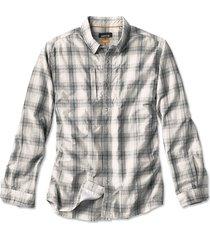 gunnison seersucker long-sleeved shirt, graphite, xx large