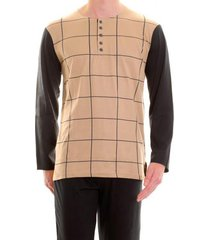 christian cane pyjama gaspard beige/zwart