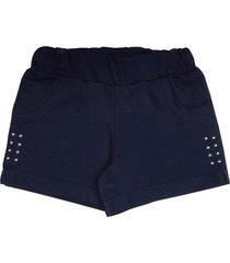 shorts infantil tileesul menina marinho