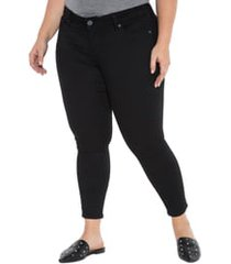 plus size women's slink jeans stretch ankle skinny jeans