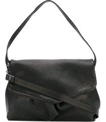 marsèll fold over shoulder bag - black