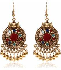 orecchini pendenti orecchio vintage tondi geometrici perline noccioline pendenti orecchini gioielli etnici per le donne