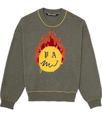 burning head sweater