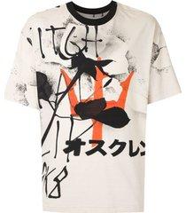 osklen t-shirt maxi over lenco sk8 - neutro