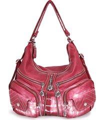 zaino donna casual shopping multitasche borsa tracolla in pelle pu borsa
