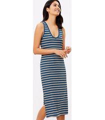 loft loft beach striped ribbed midi dress