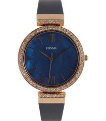 reloj azul fossil