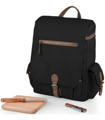 legacy by picnic time black moreno 3-bottle wine & cheese tote