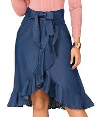 falda waves azul para mujer croydon
