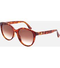 gucci women's oversized acetate frame sunglasses - havana/brown