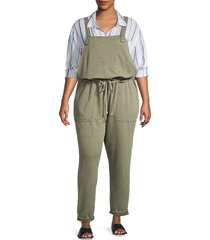 c & c california women's popover overall jumpsuit - cargo - size 3x (22-24)