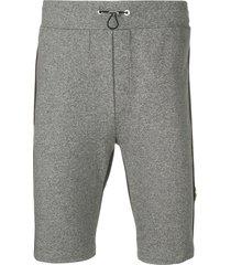 philipp plein active track shorts - grey
