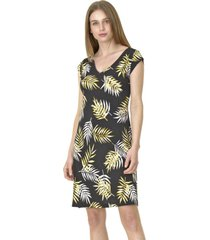 vestido c/v estampado amarillo bous
