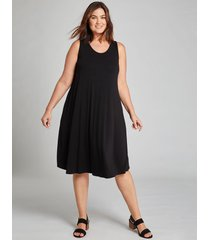 lane bryant women's crochet-back swing dress 22/24 black
