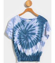nela tie-dye cropped tee - indigo