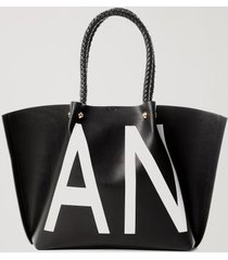 bolsa shopping bag anml preto - u