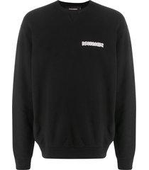 dsquared2 retro logo-print sweatshirt - black