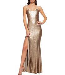 women's dress the population ingrid sequin trumpet gown