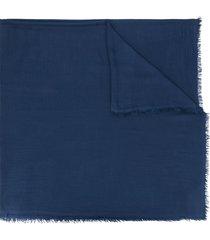 faliero sarti fine cashmere scarf - blue