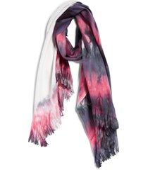 women's bp. tie dye scarf, size one size - purple