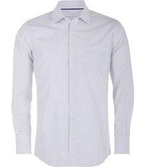 camisa formal con micro estampación regular fit para hombre 02802