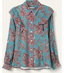 oilily bada blouse- turquoise