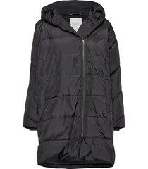 tuala coat gevoerde lange jas zwart masai