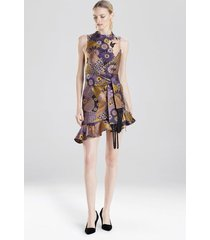 natori floral patchwork dress, women's, size 4