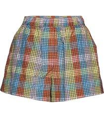 seersucker check shorts flowy shorts/casual shorts multi/mönstrad ganni