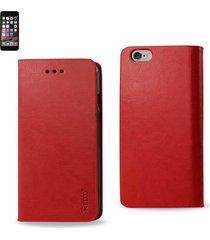 reiko reiko iphone 6 plus flip folio case with card holder in red
