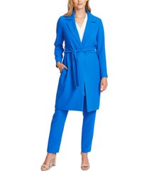 vince camuto notched-lapel belted topper jacket