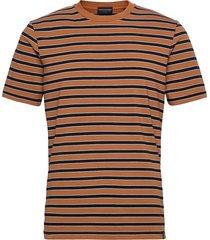 classic cotton elastane jersey crewneck tee t-shirts short-sleeved brun scotch & soda